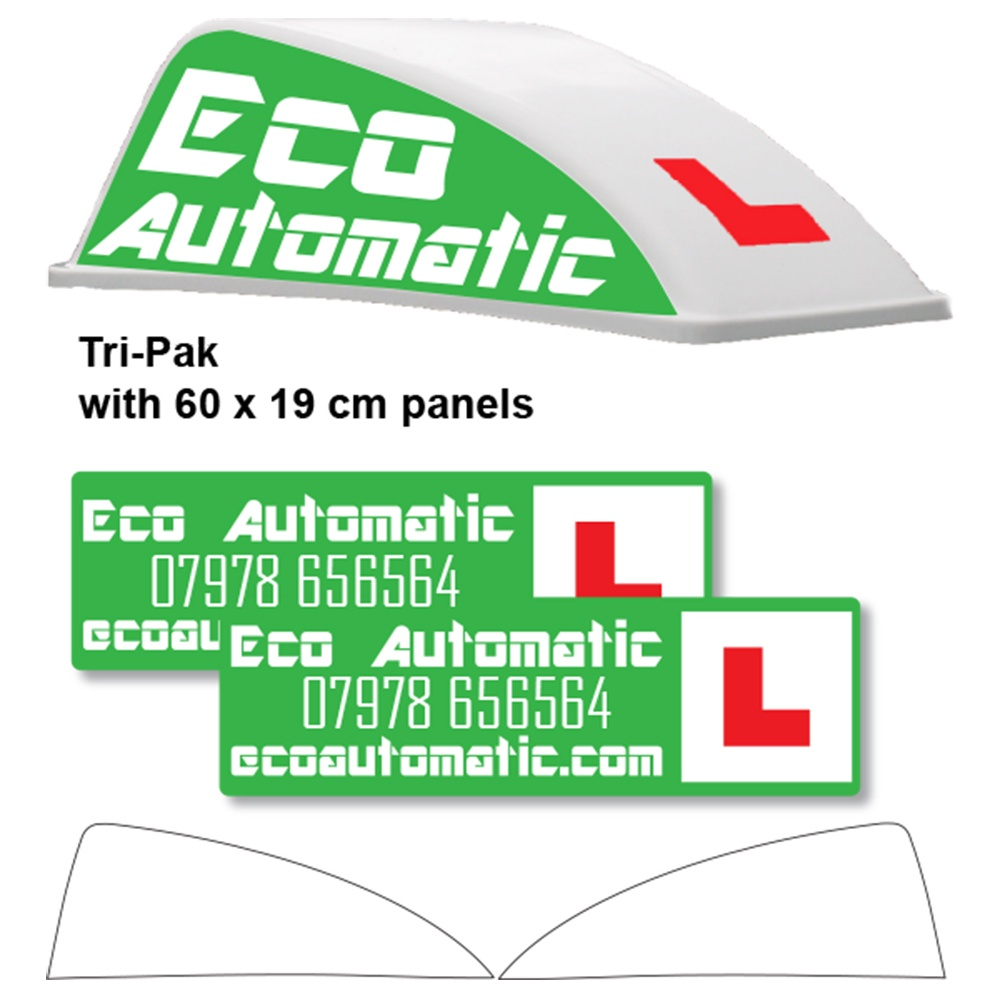Custom Design White Aero Roof Sign Tri-Pak