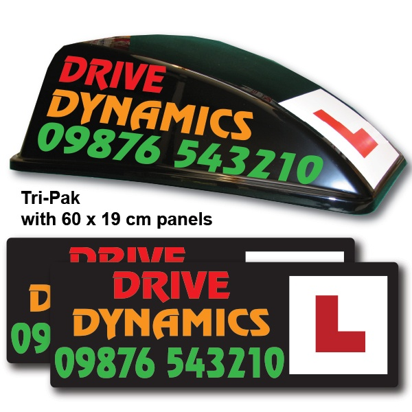 Black Aero Roof Sign Graphic Advantage Tri-Pak