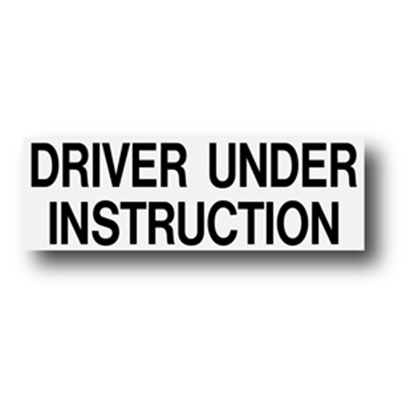 Driver Under Instruction 300mm