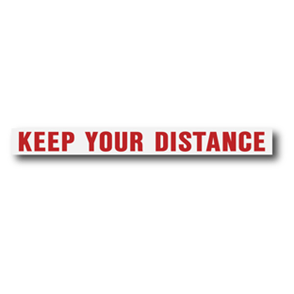 Keep Your Distance Red