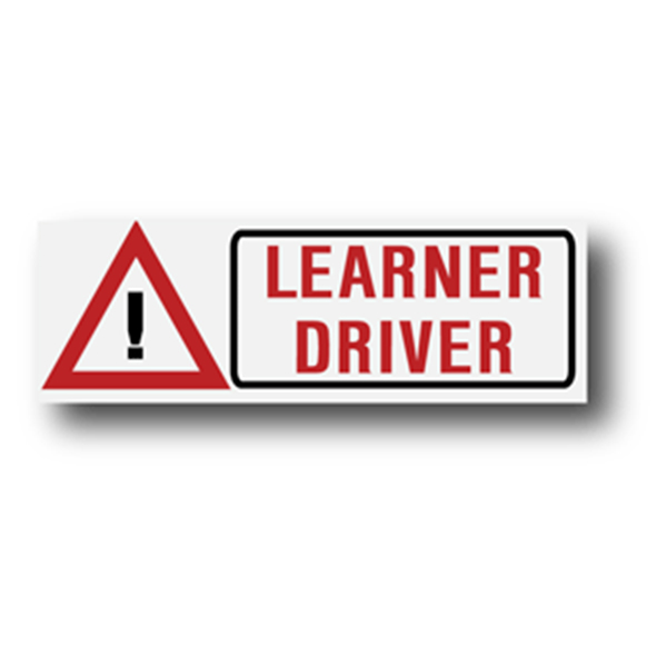 Learner Driver With Hazard Symbol 300mm