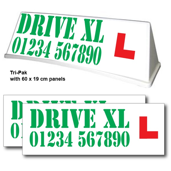 Mini Rover Roof Sign - Graphic Advantage Tri-Pak