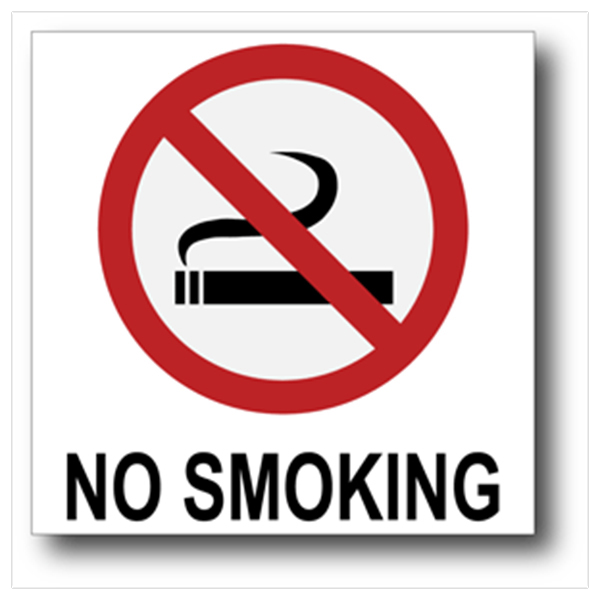 No Smoking with Text
