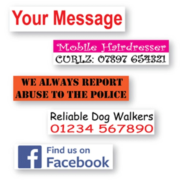 Own Message Decal up to 450 x 100mm