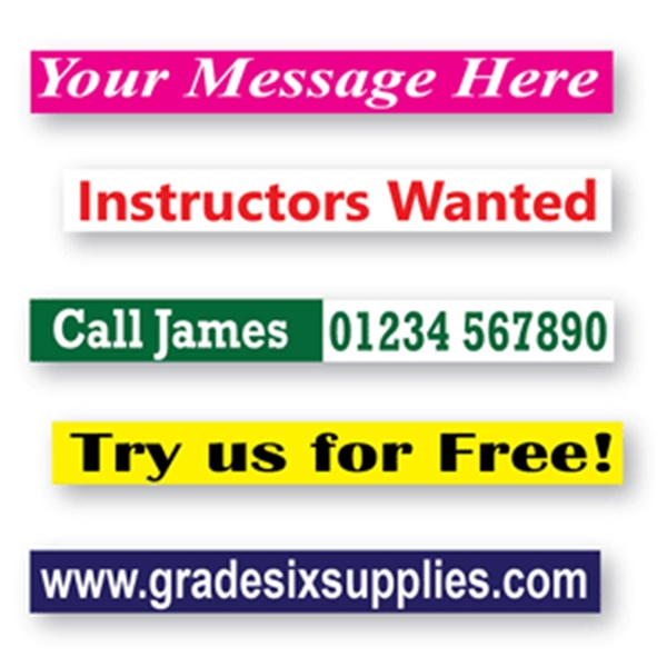Own Message Decal up to 600 x 75mm