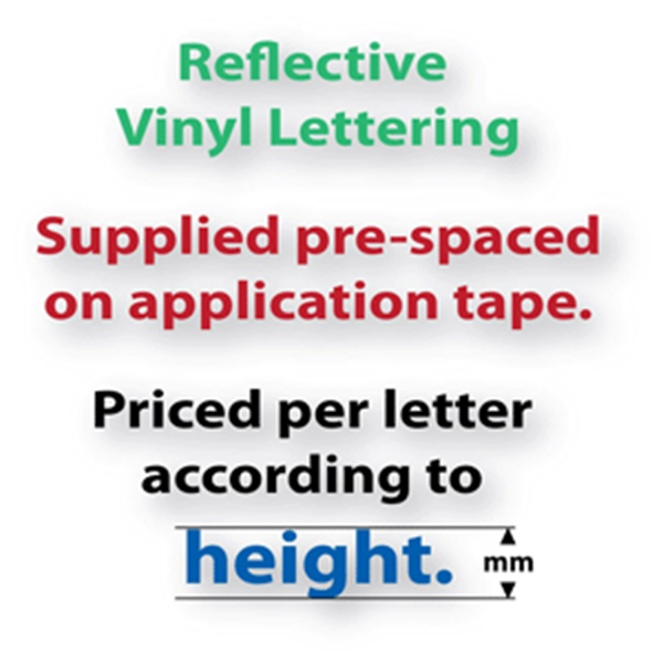 Reflective Adhesive Vinyl Lettering