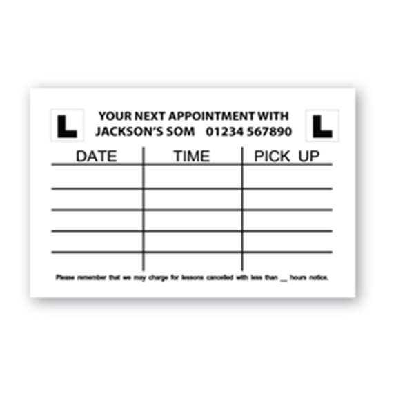 Personalised Your Next Appointment Cards