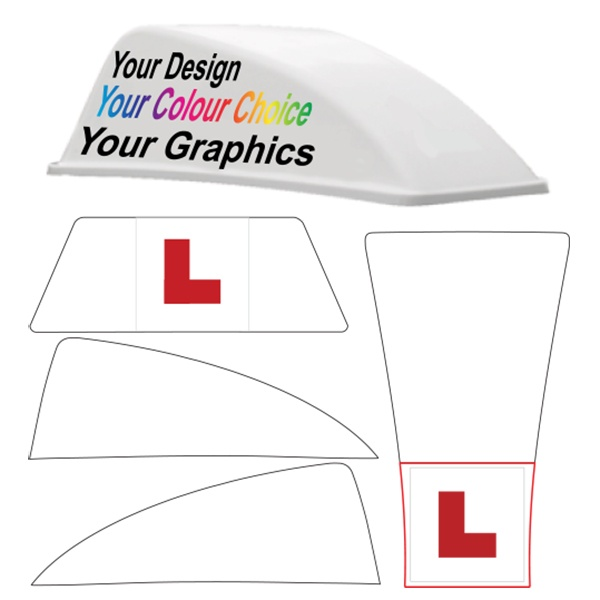 Custom Replacement Graphics for the White Aero Roof Sign