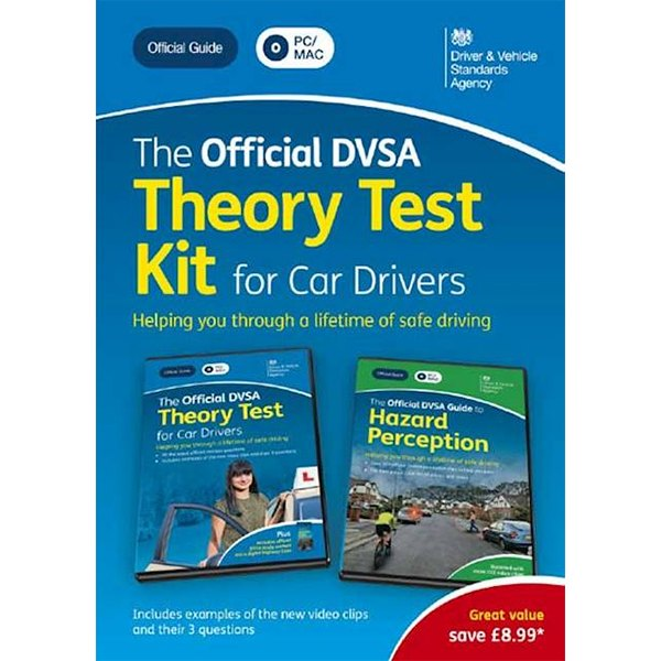 Official DVSA Theory Test Kit for Car Drivers DVD Pack